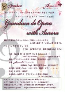 2017/11/25 Granduca de Opera
